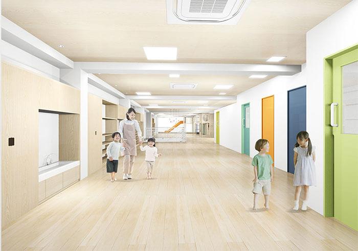 リーフキッズ保育園相模原,2階,保育室,完成予想図