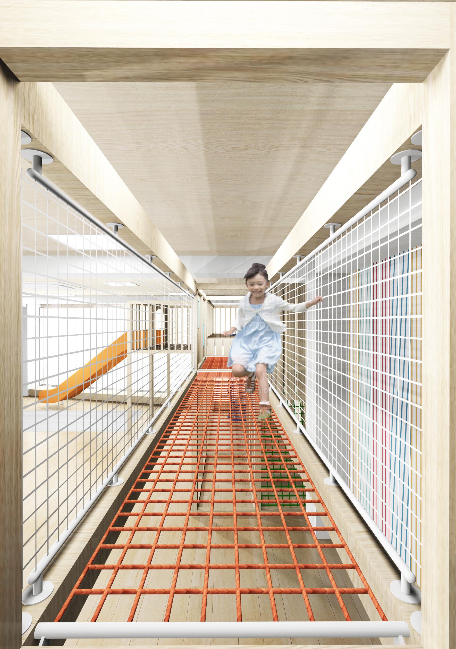 リーフキッズ保育園相模原,室内巨大運動器具
